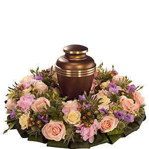 Pink Urn Wreath