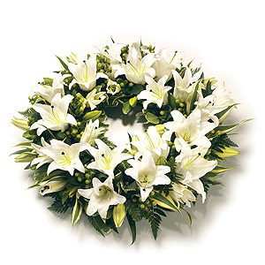 Rounded Lily Wreath
