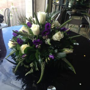 Purple & White Posy arrangement